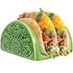 Taco Rack - No More Spilling Your Fillings - Embossed Dolomite Glazed Finish (1)