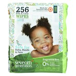 Seventh Generation Free and Clear Baby Wipes - Refills - Pack of 3 - 256 Count (3)