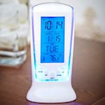 Temperature Alarm Clock - Low-Profile & Digital Display with Soft Blue Glow (1)