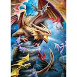 Dragon Clan Jigsaw Puzzle 1000 Pieces - Colorful Fantasy Artist Anne Stokes (1)