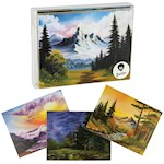 Bob Ross Notecards - Set Includes 10 Cards & Envelopes + Space For Messages (10)