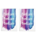 (Set/2) Endless Thank You Card With Glitter w/ Plays Golden Girls TV Theme (2)