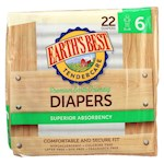 Earth'S Best Chlorine-Free Diapers - Size 6 - Pack of 4 - 22 Count (4)