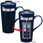 Doctor Who TARDIS Time Machine Heat Reactive 20-oz Ceramic Travel Mug w/ Lid (1)