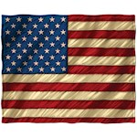 "American Flag Throw Blanket - 50"" X 60"" Patriotic Super- Soft Fleece Décor (1)"