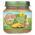 Earth's Best Organic Summer Vegetable Dinner Baby Food - Stage 2 - Pack of 12 - 4 oz. (12)