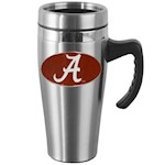 Alabama Crimson Tide NCAA Stainless Steel Travel Mug with Handle (1 Unit)