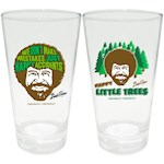 Bob Ross Pint Glass Set - Happy Accidents & Trees Adorn Signature Drinkware (1)
