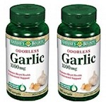 Nature's Bounty Odorless Garlic 1000 mg Dietary Supplement Softgels 2 Bottle Pack (1 Unit)