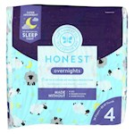 The Honest Company - Overnight Diapers Size 4 - Sleepy Sheep - 24 Count (1)