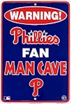 Philadelphia Phillies MLB Fan Man Cave Parking Sign (1 Unit)
