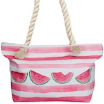"Watermelon Beach Break Tote Bag - Lined Polyester w/ Rope Handle 22"" X 14"" (1)"