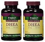 Finest Nutrition DHEA 25mg 300 Tablets Bottle 2 Pack (1 Unit)