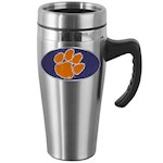 Clemson Tigers NCAA Stainless Steel Travel Mug with Handle (1 Unit)