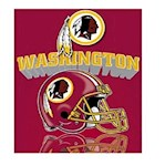 "Washington Redskins NFL Northwest ""Mirror"" Fleece Throw (1 Unit)"