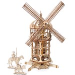 UGEARS Wooden 3D Tower Windmill - Rubber Band Powered Model Laser Cut Pieces (1)