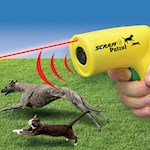 (Set/2) Scram Patrol Sonic Animal Chaser w/ Humane Laser Light & Ultrasonic (2)