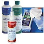 (Set) No Rinse Bathing Products - Shampoo, Body Bath, Wipes, And Peri-Wash (4)