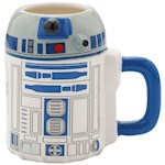 Star Wars R2-D2 Sculpted Character 20 Ounce Coffee Cup Mug - Microwave Safe (1)