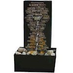 (Set) Relaxing Slate Brick Wall Fountain - LED Illumination w/ Batteries (2)