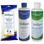 No Rinse Body Wipes, Shampoo and Conditioner Set - Perfect For Care Givers (3)
