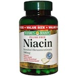 Nature's Bounty Flush Free Niacin 500 mg 120 Capsules (1 Unit)