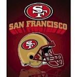 "San Francisco 49ers NFL Northwest ""Mirror"" Fleece Throw (1 Unit)"