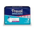 Prevail Breezers Incontinent Brief, Tab Closure, Medium, Disposable, Heavy Absorbency (Case of 96)