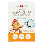 Ginger People Ginger Rescue for Kids - Mighty Mango - 24 Chewable Tablets - Pack of 10 (10)