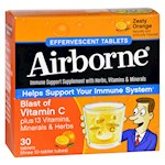 Airborne - Effervescent Tablets Vitamn C - Zesty Orange - 10 Tablets - 3 Pack (1)