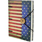 American Flag Journal - Ruggedly Patriotic with 160 Handmade Parchment Pages (1)