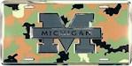Michigan Wolverines NCAA Camo Logo License Plate (1 Unit)