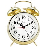 Keywind Bell Alarm Clock - Runs Up to 30 Hours On A Full Wind - Metal Casing (1)