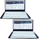 (Set/2) Datexx 3 Memory Checkbook Calculator - Secure Password Protection (2)