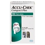 Accu-Chek Compact Plus Blood Glucose Test Strips 102ct (1 box)