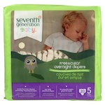 Seventh Generation Free and Clear Overnight Diapers - Stage 5 - Pack of 4 - 20 Count (4)