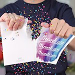 Endless Thank You Card With Glitter w/ Plays Golden Girls Theme Continuously (1)